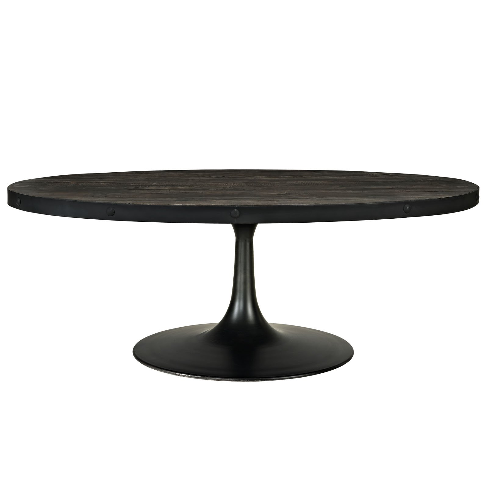Modway Drive Wood Top Coffee Table in Black