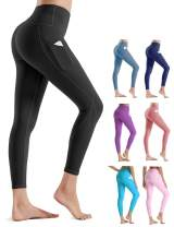 Rocorose Yoga Pants Butt Lifting Leggings Women with Pockets Elastic Pants High Waisted Women's Lined Leggings Stretch Pants