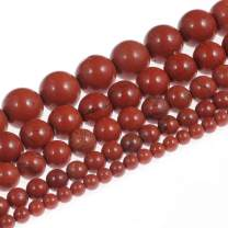 Natural Stone Beads 3mm Red Jasper Gemstone Round Loose Beads Crystal Energy Stone Healing Power for Jewelry Making DIY,1 Strand 15""