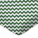 SheetWorld Fitted Pack N Play (Graco Square Playard) Sheet - Hunter Green Chevron Zigzag - Made In USA