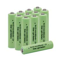 QBLPOWER 1.2V AAA Ni-Cd 600mAh Triple A Rechargeable Solar Battery Cell for Solar Lights Garden Lamp (12 PCS)