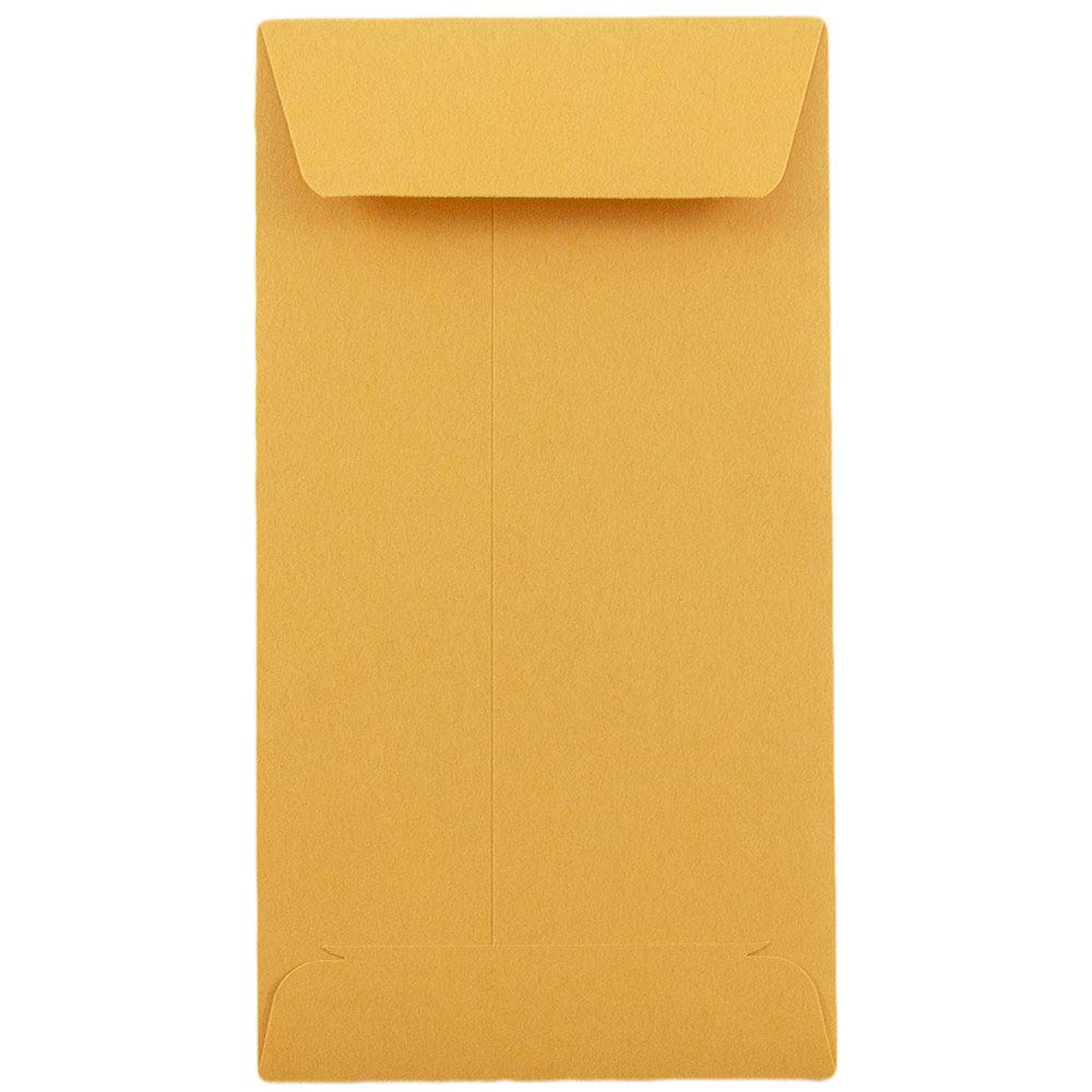 JAM PAPER #7 Coin Business Recycled Envelopes - 3 1/2 x 6 1/2 - Brown Kraft - 100/Pack
