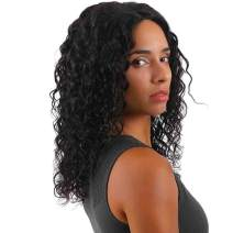 2020 Mironica Malaysian Bob Water Wave Lace Front Wigs for Black Women Free Part 13×4 Frontal 150% Density 14 Inch Unprocessed 8A Virgin Curly Wet and Wavy Human Hair Wig Pre Plucked with Baby Hair