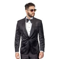 AZAR MAN Slim Fit 1 Button Velvet Shawl Dinner Jacket