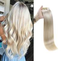 Full Shine 8 Pcs Seamless Human Hair Clip In Extensions Full Head Skin Weft Clip In Hairl 14 Inch Pu Tape In Clip Human Hair Extensions Color 60 Blonde Clip In Hair Extensions Real Hair 100 Gram