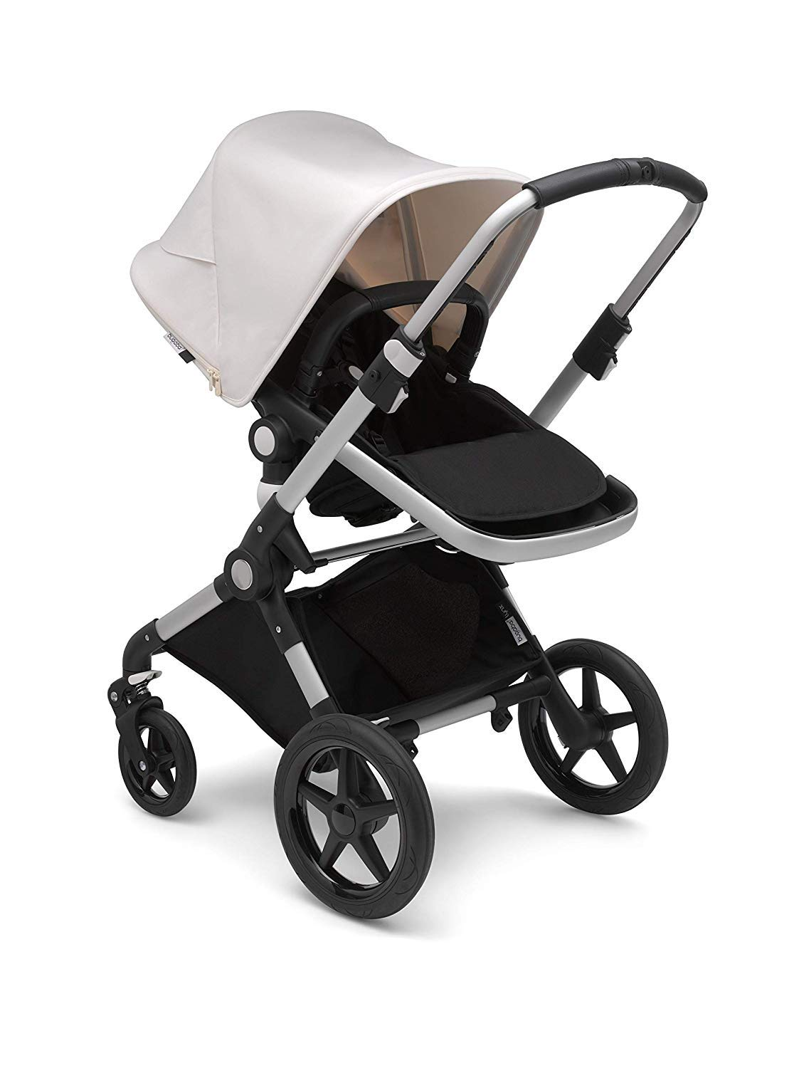 Bugaboo Lynx - The Lightest Full-Size Baby Stroller - All-Terrain Stroller with an Effortless Push and One-Handed Steering - Compatible with Bugaboo Turtle by Nuna Car Seat – Alu/Black-Fresh White