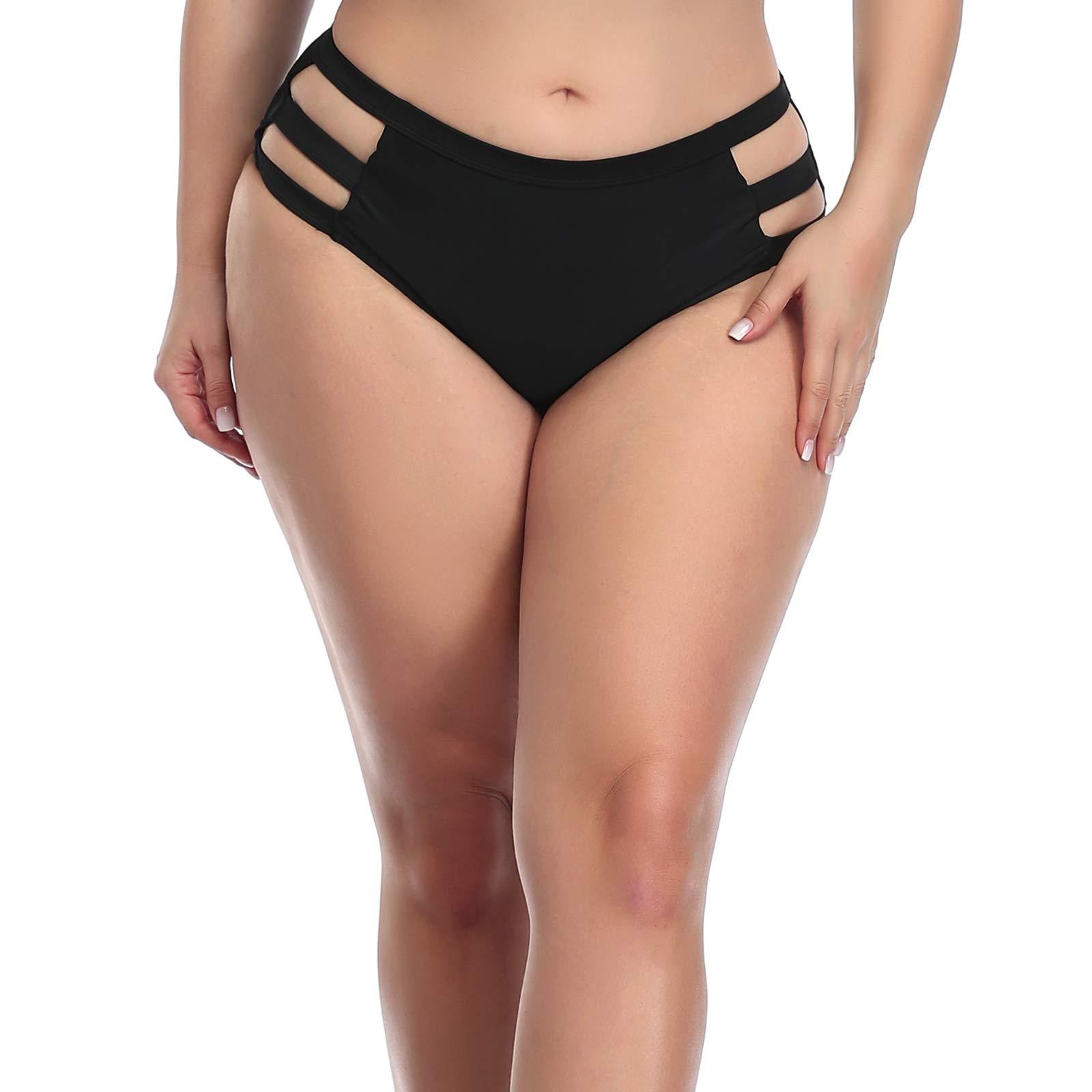 ZOHAMUNG Beach Pant Swimsuit Women Brazilian Cheeky Ruched Adjustable Tie Bikini Yoga Running Shorts Bottoms