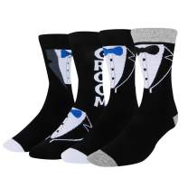 HAPPYPOP Wedding Socks Funny Groom I Do Father of Bride Groom Best Man Tuxedo Engaged Gift