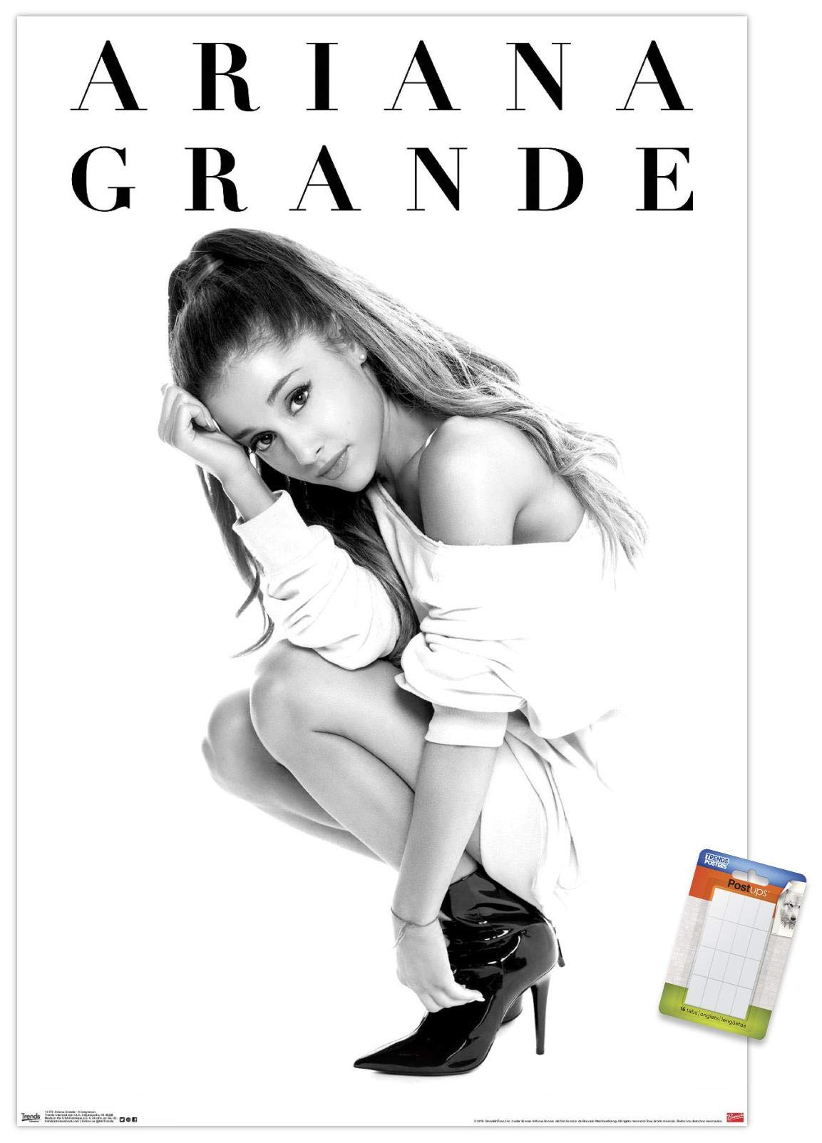 "Trends International Poster Mount Ariana Grande - Honeymoon, 22.375"" x 34"", Premium Poster & Mount Bundle"