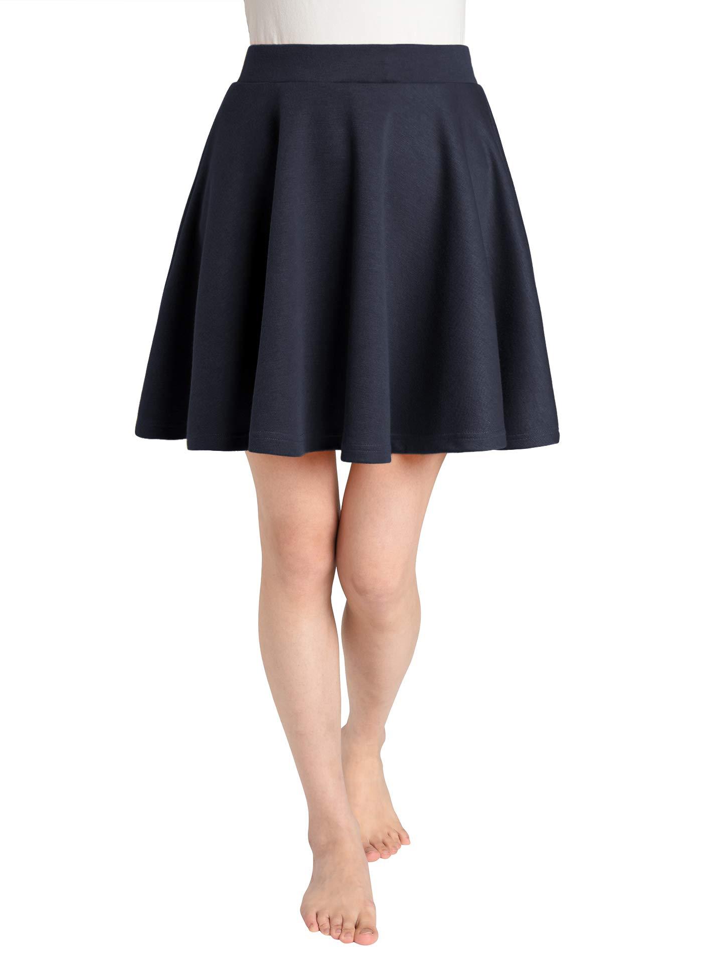 JustinCostume Women's Skater Skirt Flared Circle Skirt