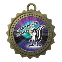 Express Medals 1 to 50 Packs Last Place Loser Gold Medal Trophy Award with Neck Ribbon D03-MY489