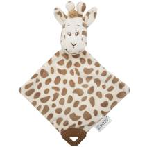 Zocita Baby Plushy Security Blanket Nursery Soothing Toy with Teethers, My First Animal Friend Snuggler (Giraffe)