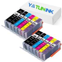 YATUNINK Compatible Ink Cartridge Replacement for Canon PGI-280XXL CLI-281XXL PGI 280 XXL CLI 281 XXL Ink Cartridges (2 PGBK 2 Black 2 Cyan 2 Magenta 2 Yellow 2 Photo Blue,12 Pack)