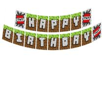 Mining Fun TNT Jointed Banners, Mining Fun Party Supplies, Mining Fun Birthday Banner