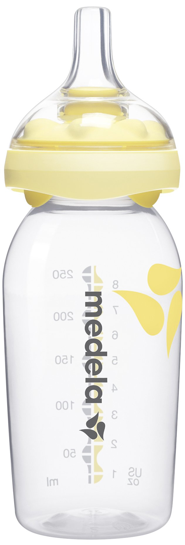 Medela Calma Breast Milk Bottle Nipple for Breastmilk Feeding, Mimics Natural Feeding, All Stage, Includes 2 - 8 Ounce Bottles, Made Without BPA