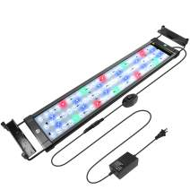 WOTERZI LED Aquarium Light Full Spectrum Fish Tank Light with Extendable Brackets