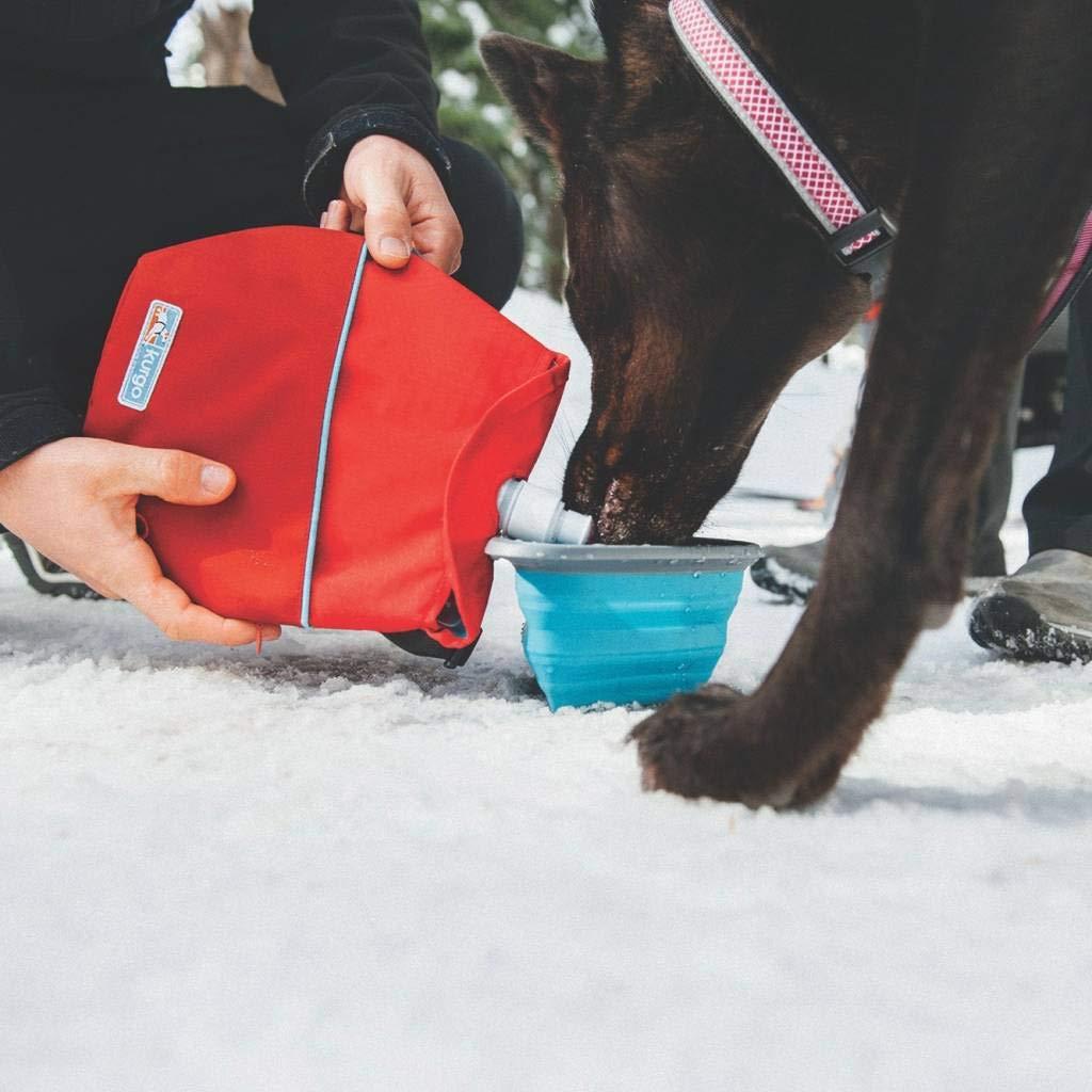 Kurgo Dog Kibble Carrier & Travel Dog Water Dispenser (Barn Red)