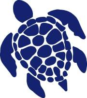 Sea Turtle Vinyl Decal - 8 Inches - For Cars, Trucks, Windows, Laptops, Tablets, Outdoor-Grade 2.5mil Thick Vinyl - Cobalt Blue