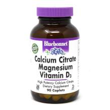 Bluebonnet Nutrition Calcium Citrate Magnesium Plus Vitamin D3 Caplets, Bone Health & Muscle Relaxation, Non GMO, Gluten Free, Soy Free, Milk Free, Kosher, 90 Caplets