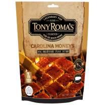Tony Roma's Pork Jerky Bites, Gluten Free, Healthy Homemade Style Barbecue Sauce, Meat From Gourmet USA Pork, 2.5 Ounces (Carolina Honeys BBQ Pork)