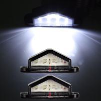 cciyu Car Marker Light 2Pack White 4 LED 12V License Plate Light Bulbs Boat Trailer Caravan RV Truck Lamp