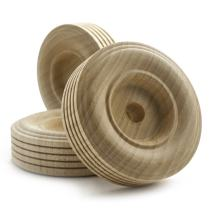 """2-1/2"""" inch Treaded Wooden Toy Wheel at 3/4"""" inch Thick with a 3/8"""" inch Hole - Bag of 100"""
