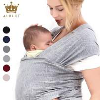 Easy Wearing Baby Wrap Ergo Carrier Slings, Extra Soft, Easy Wearing and Carrying, Best Baby Shower Gift (Light Grey)