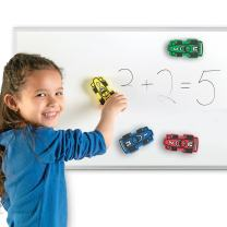 Learning Resources Magnetic Whiteboard Erasers, Racecars