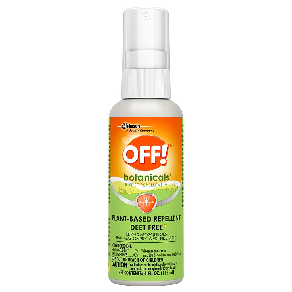 OFF! Botanicals Natural Mosquito and Insect Repellent IV, Plant-Based* Bug Spray, Deet-Free**, 4 oz.
