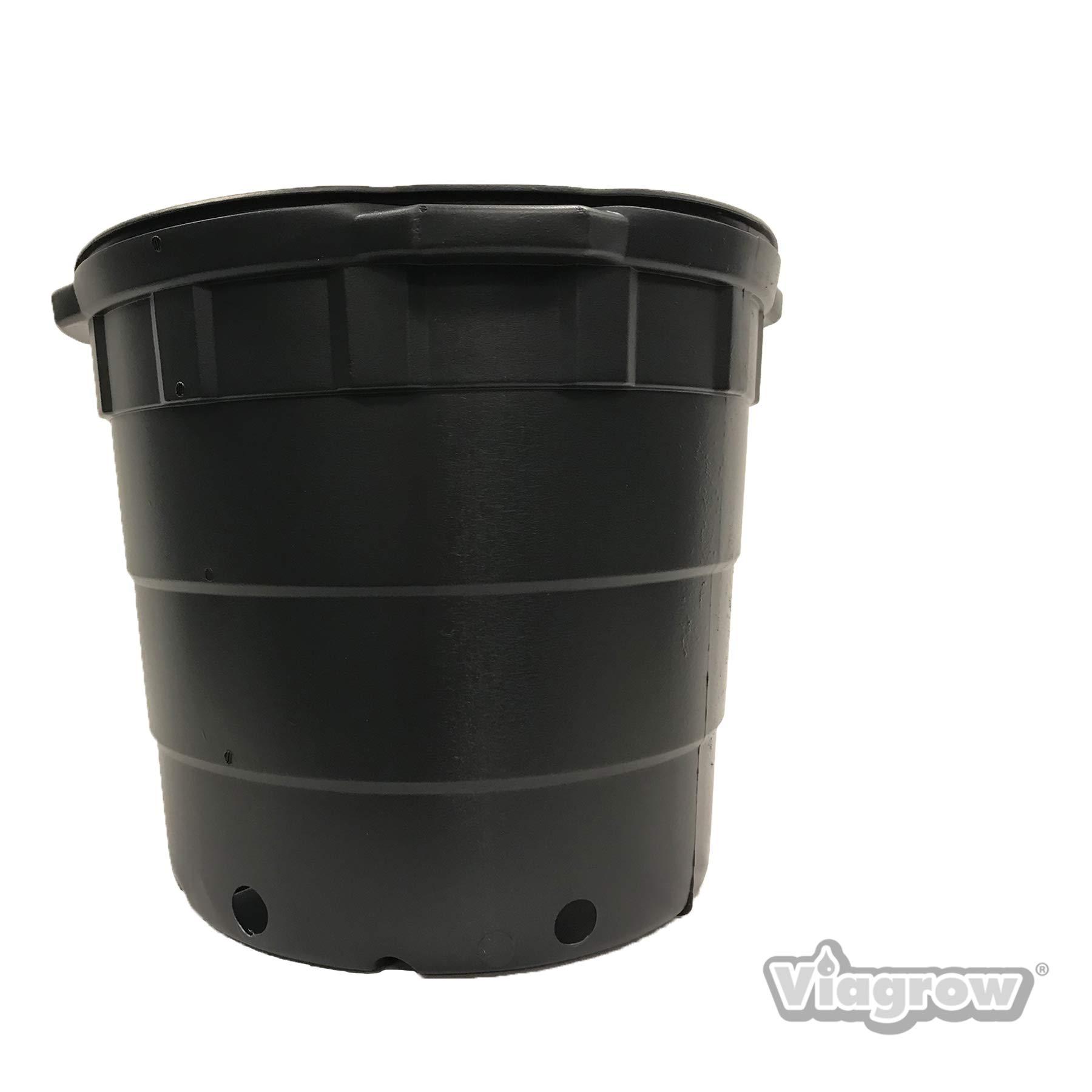 Viagrow 10 gallon Round Nursery Pots - 10 Pack