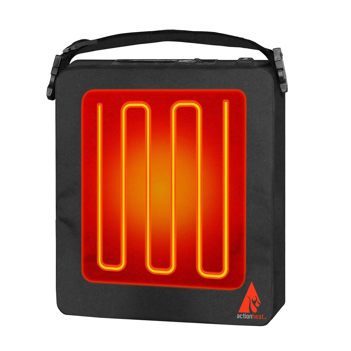 ActionHeat 5V Battery Heated Seat Cushion – Seat Warmer with 24 in. Adjustable Shoulder Strap, Waterproof Battery Pocket, Built-in Heating Panel