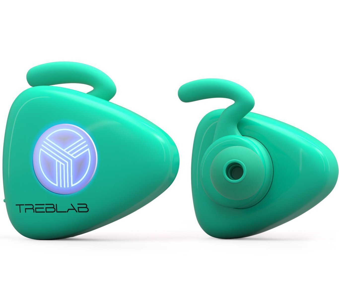 TREBLAB X11, Truly Wireless Bluetooth Earbuds, Best Sports Headphones for Running, Workout and Travel. True HD Sound, Secure-Fit, IPX4 Sweat-Proof, Noise Cancelling Headset w/Mic (Baby Blue)