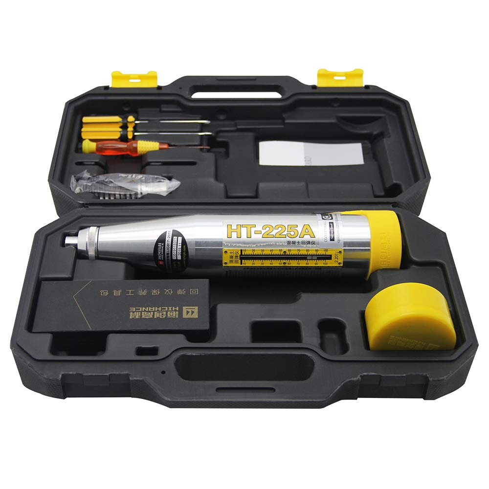 CGOLDENWALL Schmidt Hammer Concrete Rebound Hammer Tester HT-225A Resiliometer Test Meter Tool Within the Scope of 10-60Mpa