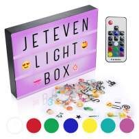 Jeteven Cinema Light Colors Box Colorful Letters Emojis LED for Home Decor Wedding Birthday Parties (7 Colors Light with Remote Control)