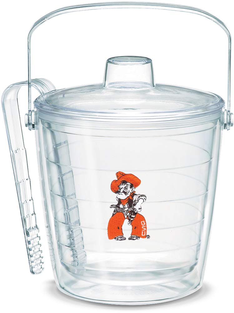 Tervis 1046286 Oklahoma State Cowboys Pistol Pete Ice Bucket with Emblem and Clear Lid 87oz Ice Bucket, Clear