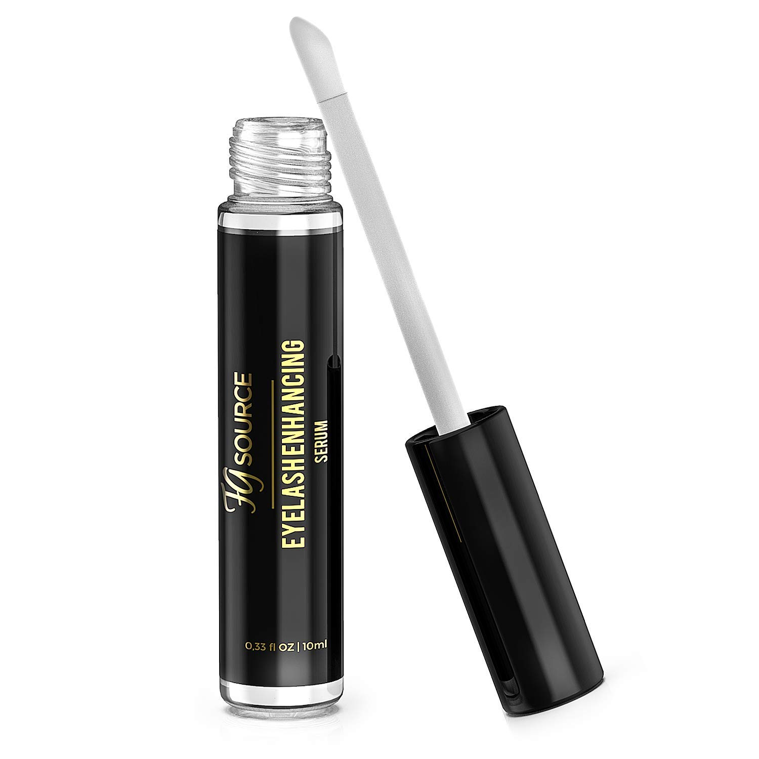 Eyelash Growth Serum Castor Oil - Natural Eyebrow & Eyelash Enhancer Designed to Lengthen & Thicken Thin, Skimpy Lashes & Brows - Lash Boost With Coconut Oil & Vitamin E, Made in USA, 10ml