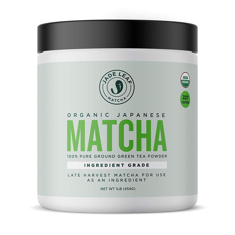 Jade Leaf - Organic Japanese Matcha Green Tea Powder, Ingredient Grade [16 Ounce]