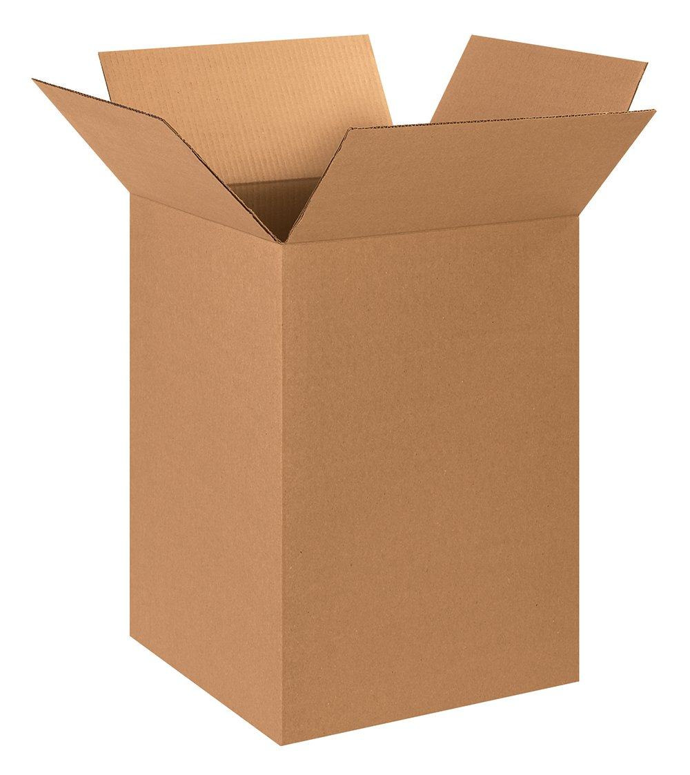 """Aviditi 151524 Tall Corrugated Cardboard Box 15"""" L x 15"""" W x 24"""" H, Kraft, for Shipping, Packing and Moving (Pack of 20)"""