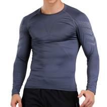 LIERDAR Men's Long Sleeve Compression Baselayer Workout Shirt