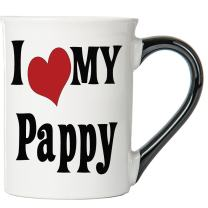 Cottage Creek Pappy Mug Large 18 Ounce Ceramic I Love My Pappy Coffee Mug/Pappy Gifts Pappy Cup [White]
