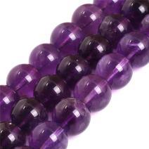 "JOE FOREMAN 14mm Amethyst Genuine Semi Precious Stone Round AAA Grade Purple Loose Beads for Jewelry Making DIY Handmade Craft Supplies 15"""