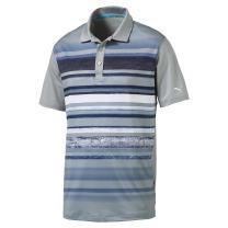 PUMA Golf Men's Washed Stripe PC Crest Polo