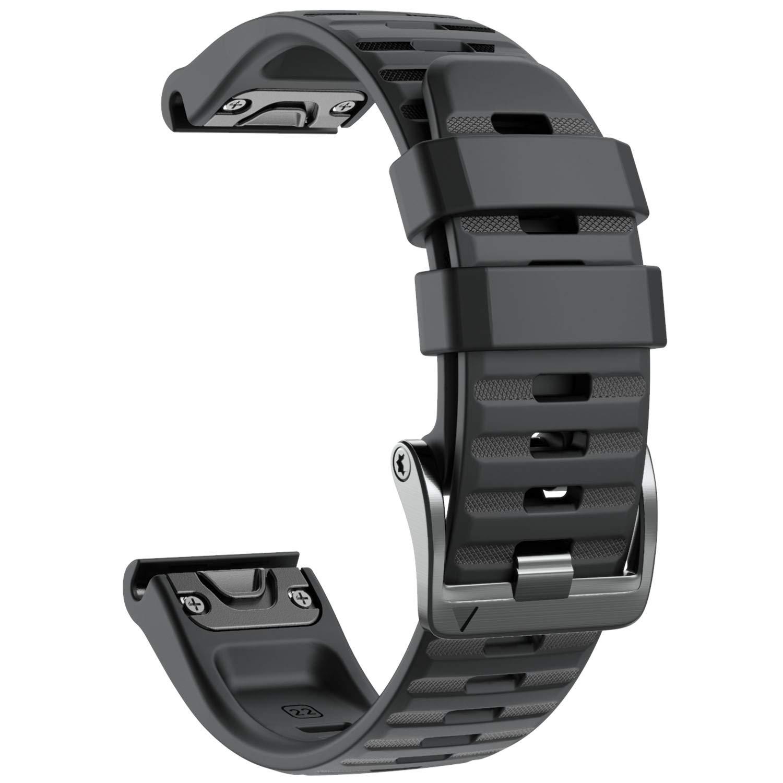 Notocity Compatible with Fenix 6 Watchbands 22mm Band for Fenix 6/Fenix 6 Pro/Fenix 5/Fenix 5 Plus/Forerunner 935/Forerunner 945/Approach S60/Quatix 5(Black)