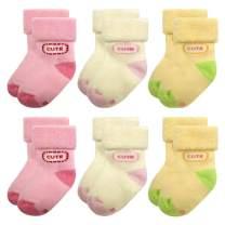 Baby Socks for Infant Toddler Girls Cotton 0-12 Months