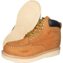 Krazy American Men's Leather 6 Inch Moc Toe Men's Light Weight Work Boots | Wheat Color