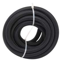 """20 Feet 10AN AN10 5/8"""" Fuel Line Hose Braided Stainless Steel Oil Gas Fuel Hose CPE Synthetic Rubber Line Black"""