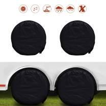 "Wheel Tire Covers 4 Pack,Waterproof UV Sun Protectors for RV, Camper, Trailer, Truck Fits 27""-29"" Van Auto Car Tire Diameter"