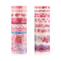 Accmor 16 Rolls Washi Tape, Decorating Masking Tape for Kids, Washi Tapes for Scrapbook, Bullet Journals, Planners, Gift Wrapping, Notebook Decoration, 8 Sheets Stickers Included