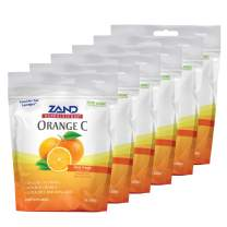 Zand HerbaLozenge Orange C   Vitamin C Lozenges w/Herbal Extracts for Soothing Throat   No Corn Syrup, Cane Sugar or Artificial Colors   80ct, 6 Bag