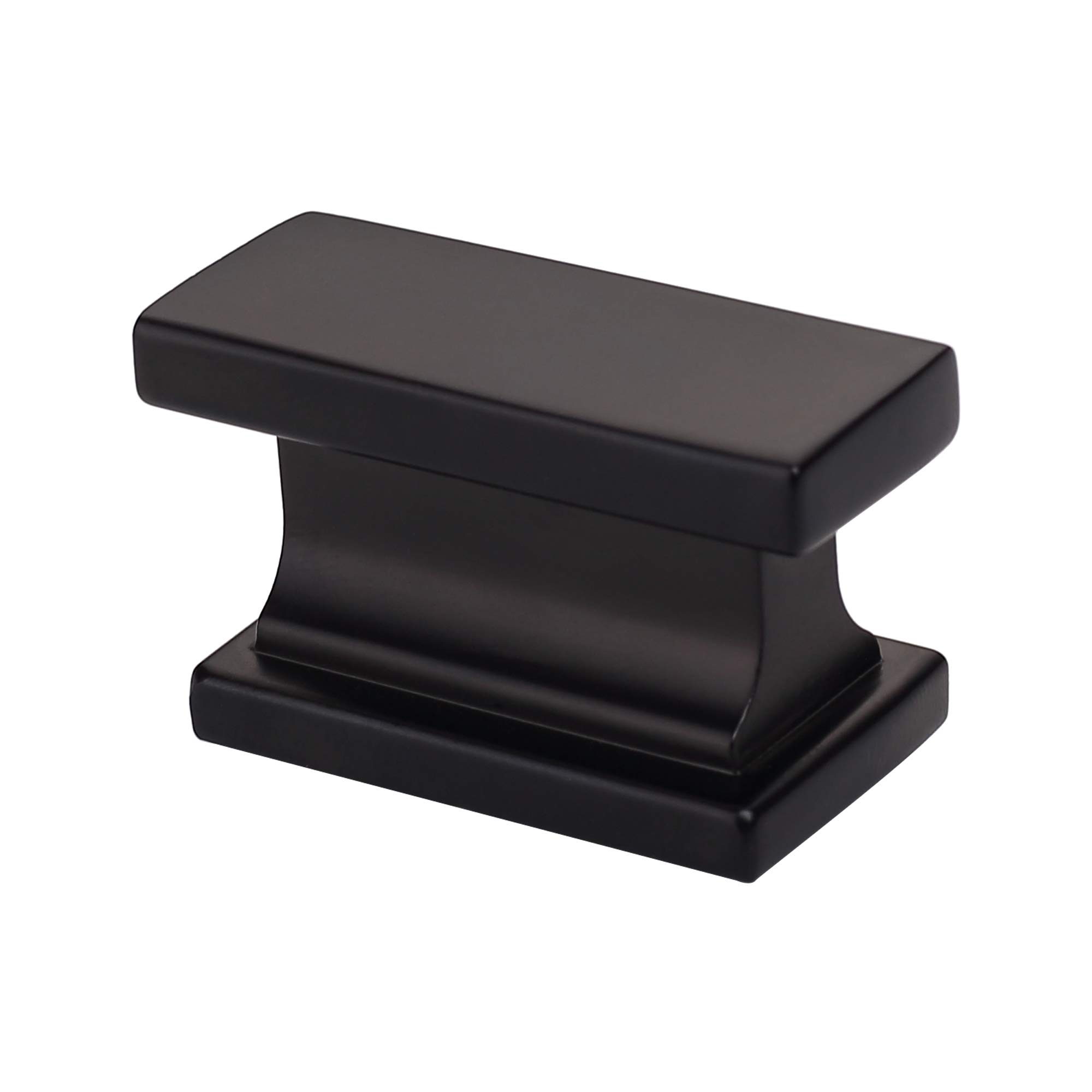 Alzassbg AL6061MB Flat Black, 1.46 Inch(37mm) Cabinet Hardware Rectangle Knobs for Cupboard and Drawer 10 Pack